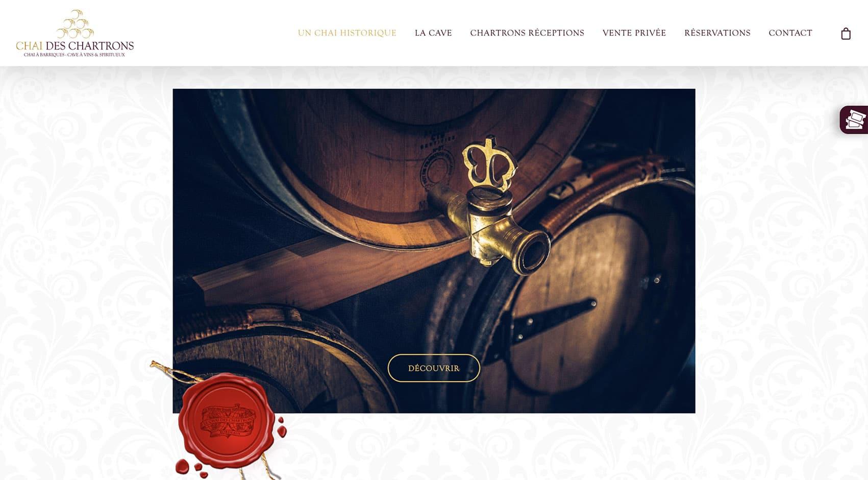 Le Chai des Chartrons, site e-commerce réalisé par Romain Favraud
